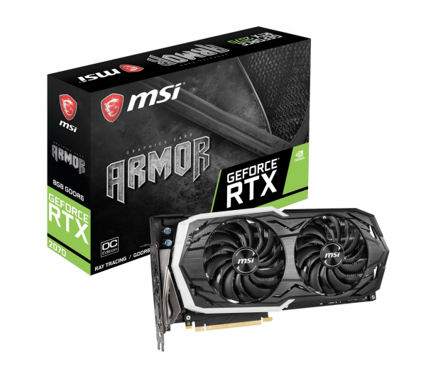 MSI GeForce RTX 2070 ARMOR 8GB OC GDDR6 - 456604 - zdjęcie