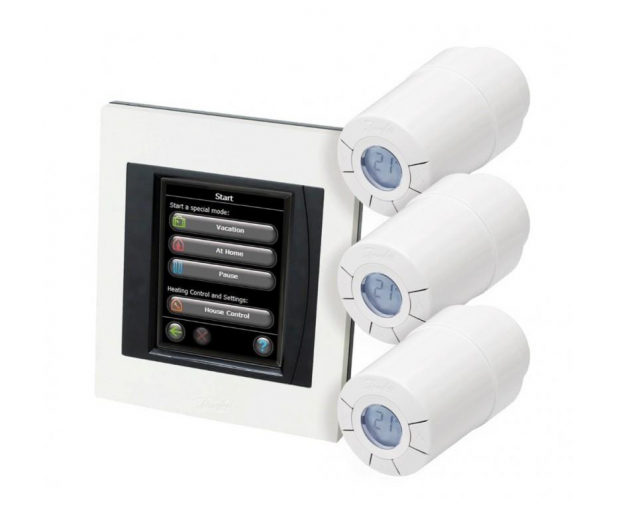 Danfoss Zestaw startowy dla 3 grzejników + panel Link WiFi - 456589 - zdjęcie 2