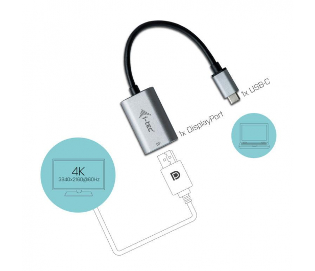i-tec Adapter USB-C - DisplayPort 4k 60Hz - 456373 - zdjęcie 3