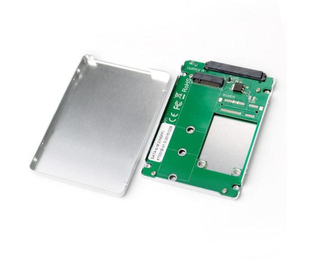 i-tec Adapter do dysku M.2 (SATA, srebrny) - 456342 - zdjęcie
