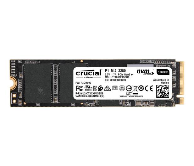 Crucial 1TB M.2 PCIe NVMe P1  - 456907 - zdjęcie