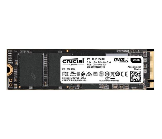 Crucial 500GB M.2 PCIe Gen3 x4 NVMe P1 - 456906 - zdjęcie
