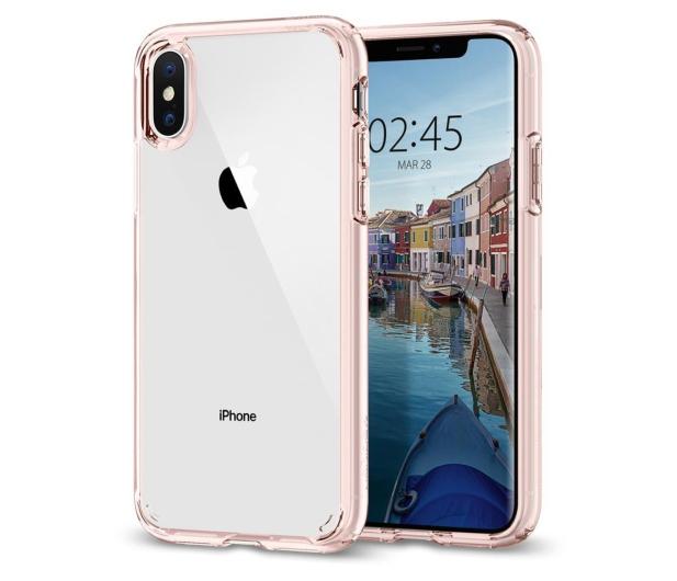 Spigen Ultra Hybrid do iPhone XS Rose Crystal  - 451999 - zdjęcie
