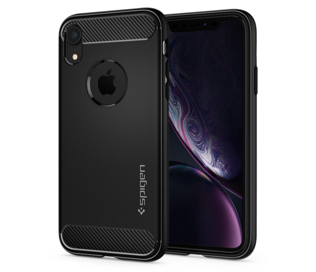 Spigen Rugged Armor do iPhone XR Matte Black - 452119 - zdjęcie