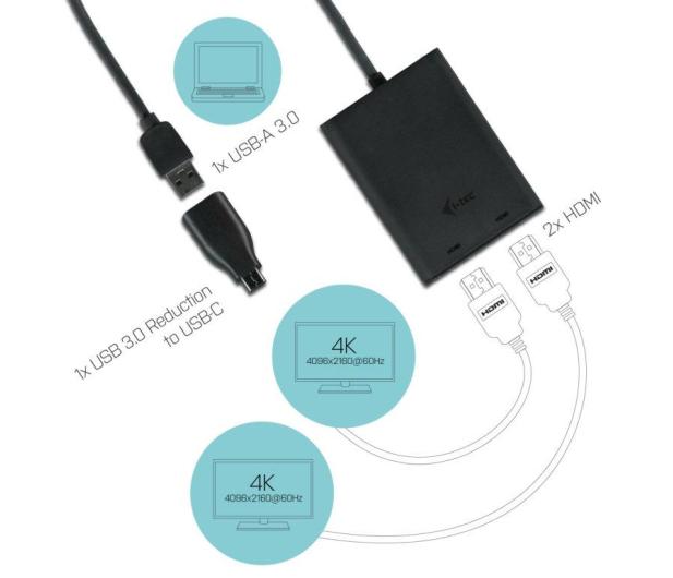i-tec Adapter USB - HDMI, HDMI (USB-C) - 456330 - zdjęcie 3