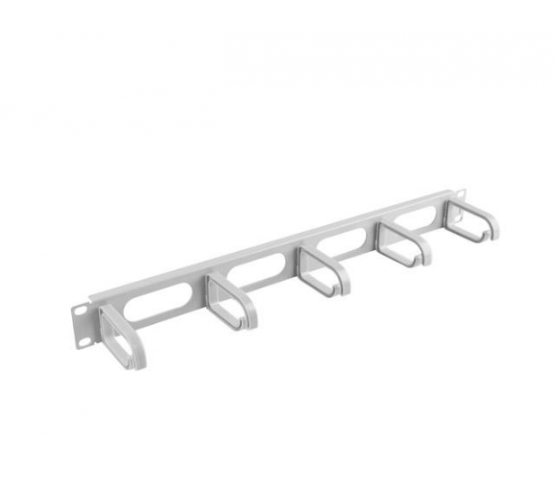 """Lanberg Organizer kabli Typ B 19"""" 1U (szary)  - 458033 - zdjęcie 3"""