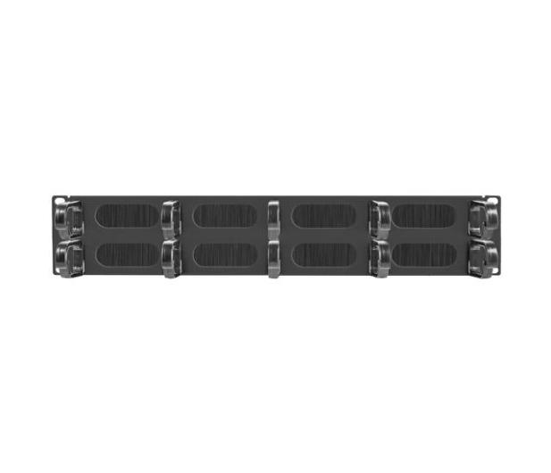 """Lanberg Organizer kabli Typ B 19"""" 2U szczotkowy (czarny)  - 458034 - zdjęcie 2"""