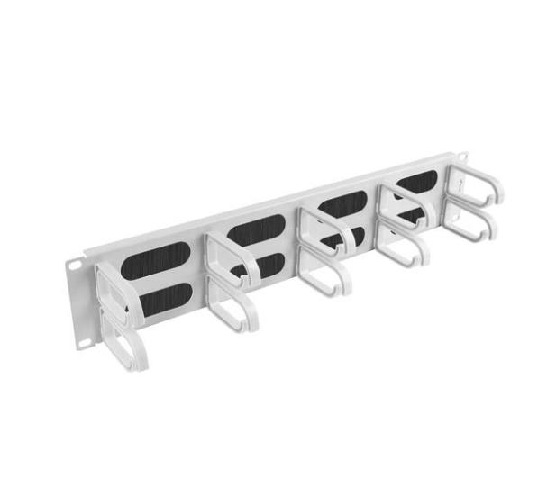 """Lanberg Organizer kabli Typ B 19"""" 2U szczotkowy (szary)  - 458035 - zdjęcie 3"""