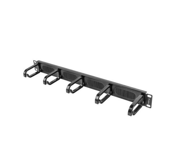 """Lanberg Organizer kabli Typ B 19"""" 1U szczotkowy (czarny)  - 458037 - zdjęcie"""