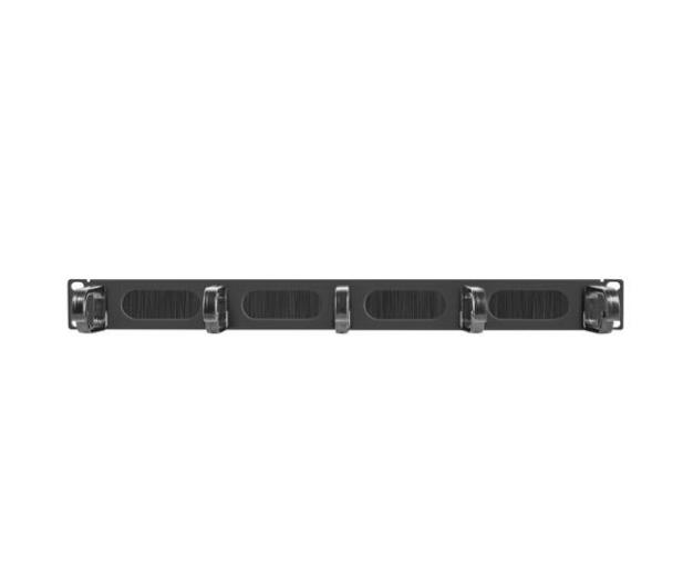 """Lanberg Organizer kabli Typ B 19"""" 1U szczotkowy (czarny)  - 458037 - zdjęcie 2"""