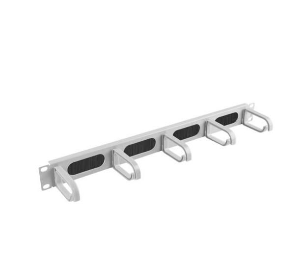 """Lanberg Organizer kabli Typ B 19"""" 1U szczotkowy (szary)  - 458039 - zdjęcie 3"""