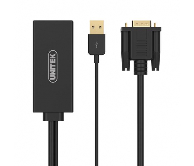 Unitek Adapter VGA do HDMI + Audio - 458709 - zdjęcie
