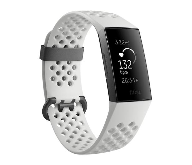 Fitbit Charge 3 Special Edition Grafitowo - Biały - 449641 - zdjęcie