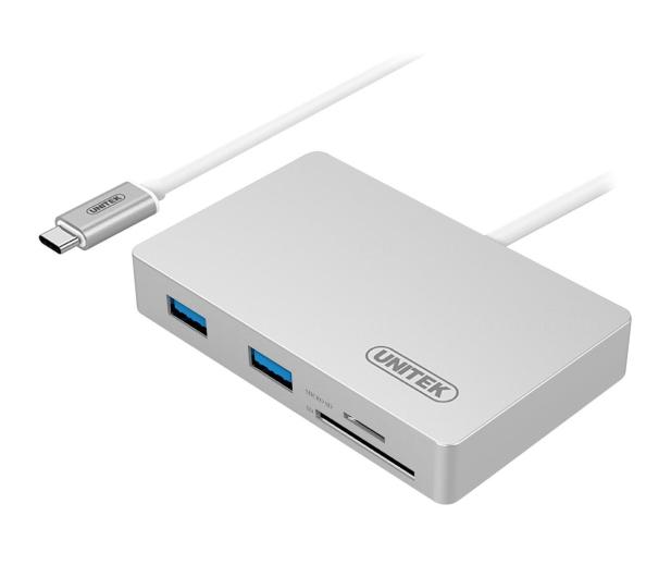 Unitek HUB USB-C - 3x USB 3.0 + czytnik kart + PD - 459532 - zdjęcie
