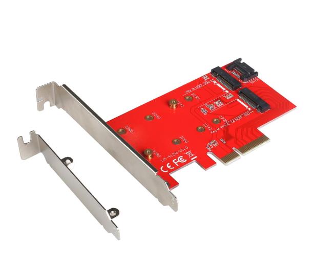 i-tec Adapter PCI-E SATA 2x M.2 Card PCI-E/SATA - 378032 - zdjęcie