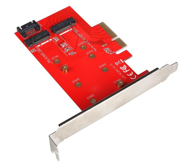 i-tec Adapter PCI-E SATA 2x M.2 Card PCI-E/SATA - 378032 - zdjęcie 3