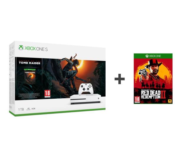 Microsoft Xbox One S 1TB + SotTR+Red Dead Redemption 2 - 453262 - zdjęcie