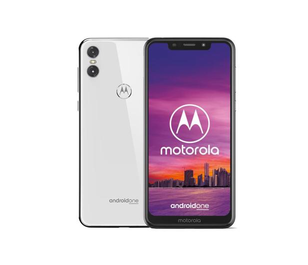 Motorola One 4/64GB Dual SIM biały + etui - 448947 - zdjęcie