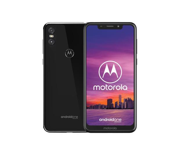 Motorola One 4/64GB Dual SIM czarny + etui - 448945 - zdjęcie