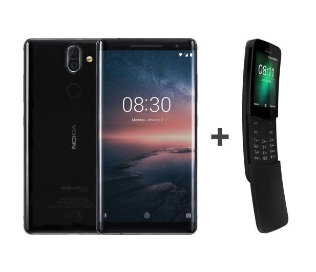Nokia 8 Sirocco czarny + Nokia 8110 Dual Sim czarny - 461934 - zdjęcie