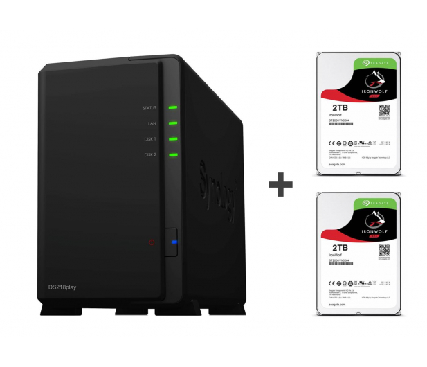 Synology DS218play 4TB (2xHDD, 4x1.4GHz, 1GB, 2xUSB, 1xLAN) - 463381 - zdjęcie