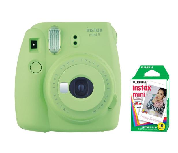 Fujifilm Instax Mini 9 zielony + wkład 10 zdjęć  - 393602 - zdjęcie