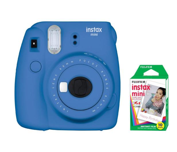 Fujifilm Instax Mini 9 ciemno-niebieski + wkład 10 zdjęć  - 393605 - zdjęcie