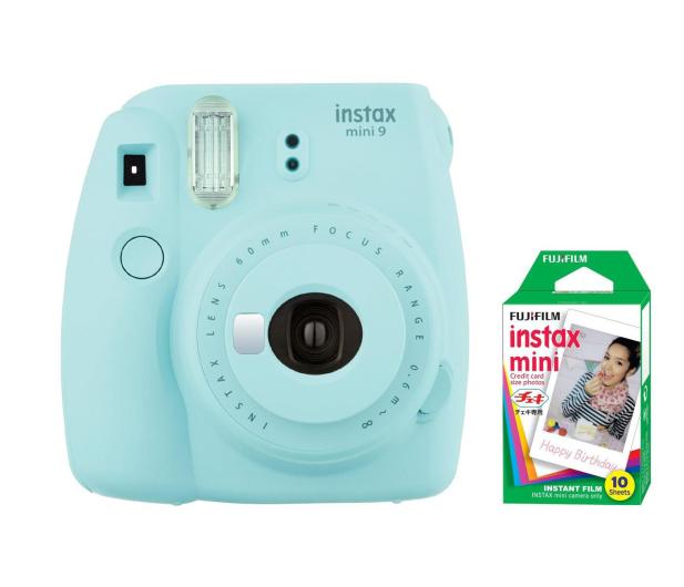 Fujifilm Instax Mini 9 niebieski + wkład 10 zdjęć  - 393607 - zdjęcie