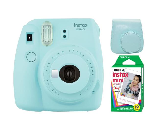 Fujifilm Instax Mini 9 niebieski + wkład 10pk + pokrowiec - 393611 - zdjęcie