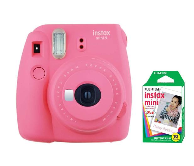 Fujifilm Instax Mini 9 różowy + wkład 10 zdjęć  - 393606 - zdjęcie