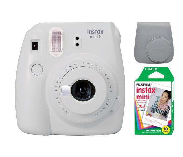 Fujifilm Instax Mini 9 biały + wkład 10PK + pokrowiec - 393617 - zdjęcie