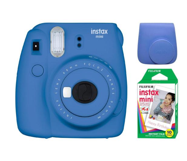 Fujifilm Instax Mini 9 ciemno-niebieski + 10PK + pokrowiec - 393615 - zdjęcie