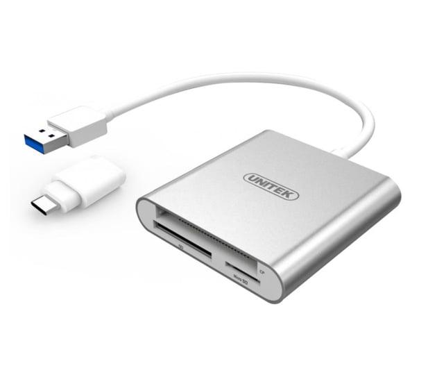 Unitek USB-C - SD, Micro SD, CompactFlash, RS-MMC - 460026 - zdjęcie