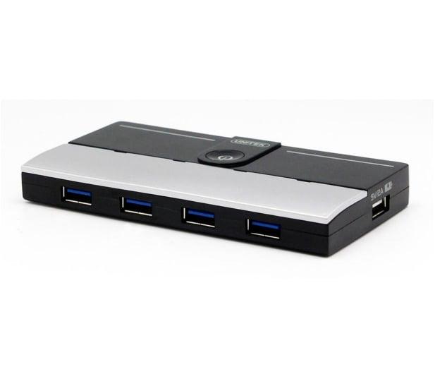Unitek HUB 4x USB 3.0 + ładowarka iPad - 460144 - zdjęcie