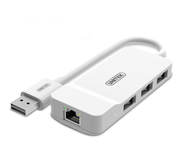 Unitek HUB 3x USB 2.0 + Ethernet - 460409 - zdjęcie