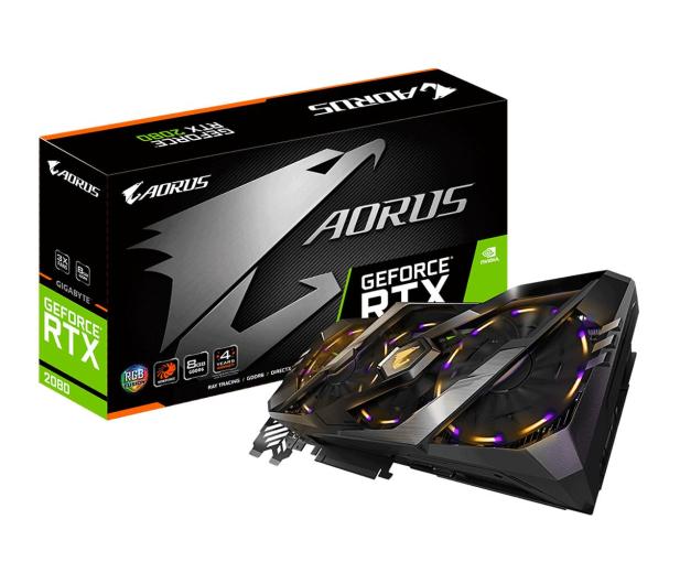 Gigabyte GeForce RTX 2080 AORUS 8GB GDDR6  - 458974 - zdjęcie