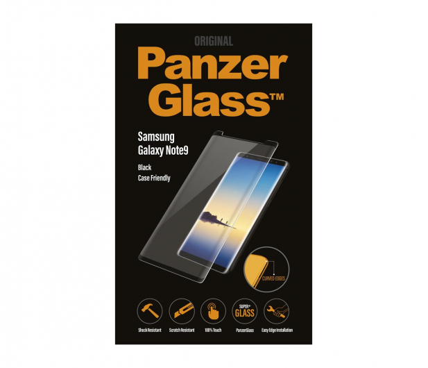 PanzerGlass Szkło Curved Edges Casefriendly do Note 9 Black - 468885 - zdjęcie