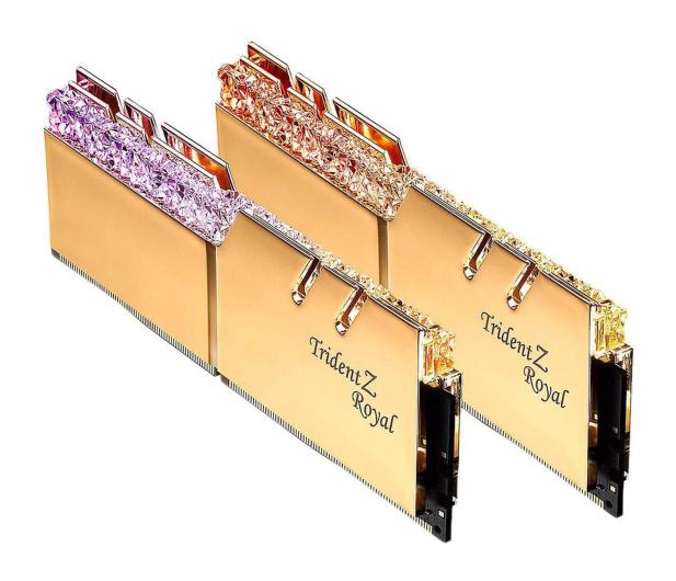 G.SKILL 16GB (2x8GB) 3600MHz CL18  TridentZ Royal Gold  - 470230 - zdjęcie 2