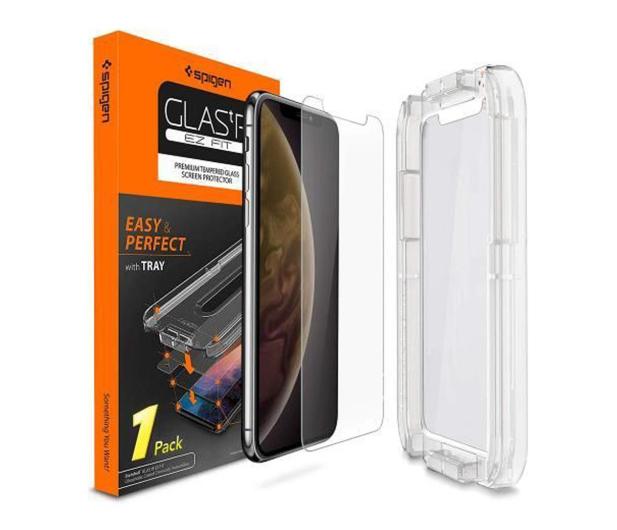 Spigen Szkło GLAS.TR EZ FIT do iPhone Xs + Aplikator  - 463553 - zdjęcie