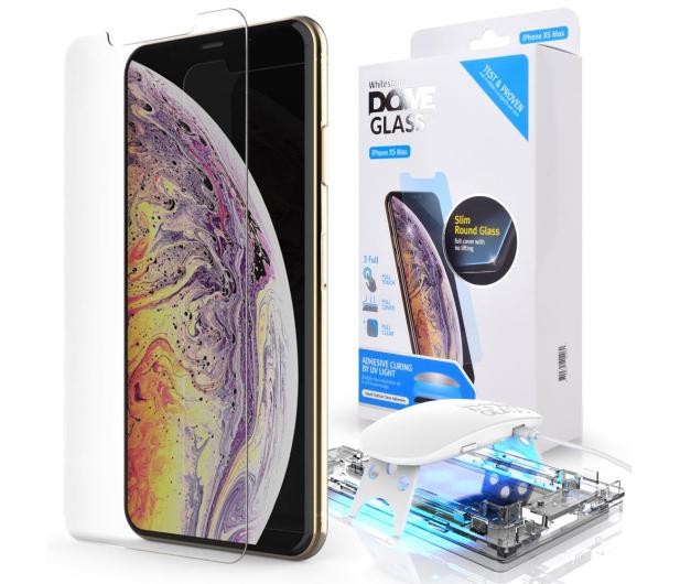 Whitestone Szkło Hartowane Dome Glass + UV do iPhone XS MAX - 465244 - zdjęcie