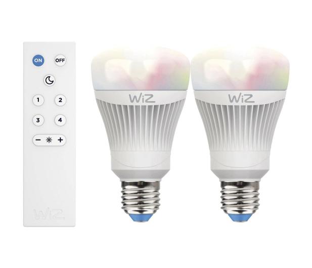 WiZ Colors RGB LED WiZ60 TR (E27/806lm) 2szt.+pilot - 461170 - zdjęcie