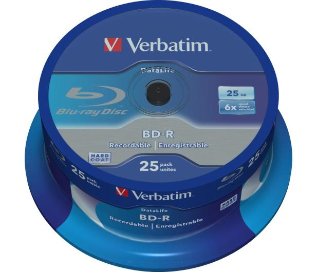Verbatim BluRay 6x 25GB DataLife cake 25 szt - 408500 - zdjęcie
