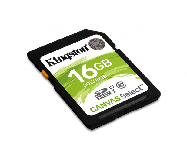 Kingston 16GB SDHC Canvas Select 80MB/s C10 UHS-I U1 - 408966 - zdjęcie 2
