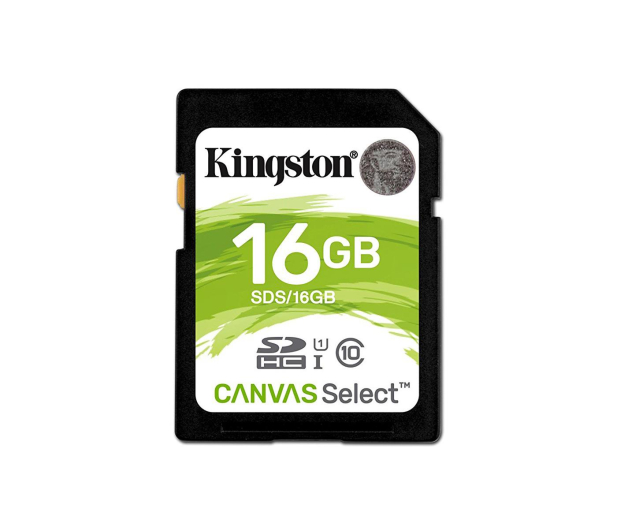 Kingston 16GB SDHC Canvas Select 80MB/s C10 UHS-I U1 - 408966 - zdjęcie 1