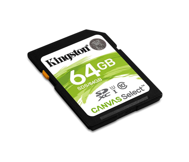 Kingston 64GB SDXC Canvas Select 80MB/s C10 UHS-I U1  - 408972 - zdjęcie 2