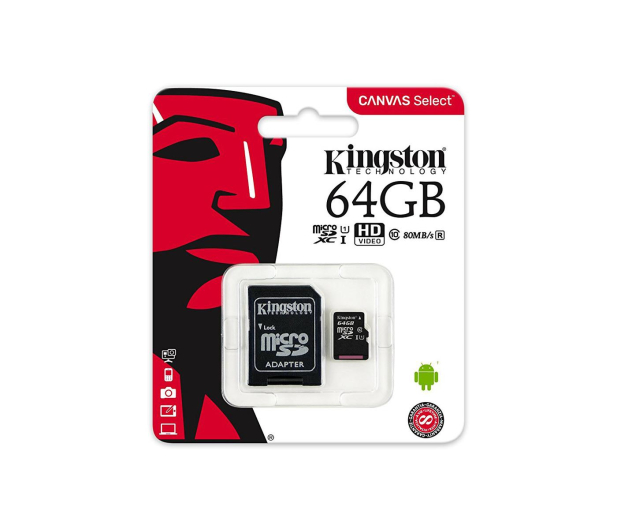 Kingston 64GB microSDXC Canvas Select 80MB/s C10 UHS-I  - 408959 - zdjęcie 4