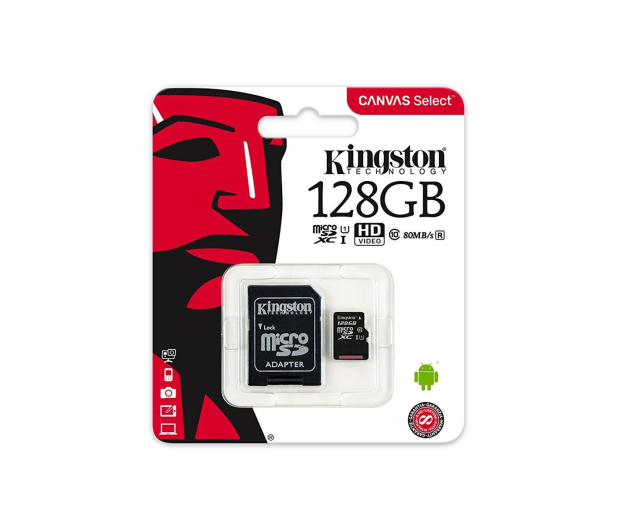 Kingston 128GB microSDXC Canvas Select 80MB/s C10 UHS-I - 408960 - zdjęcie 4