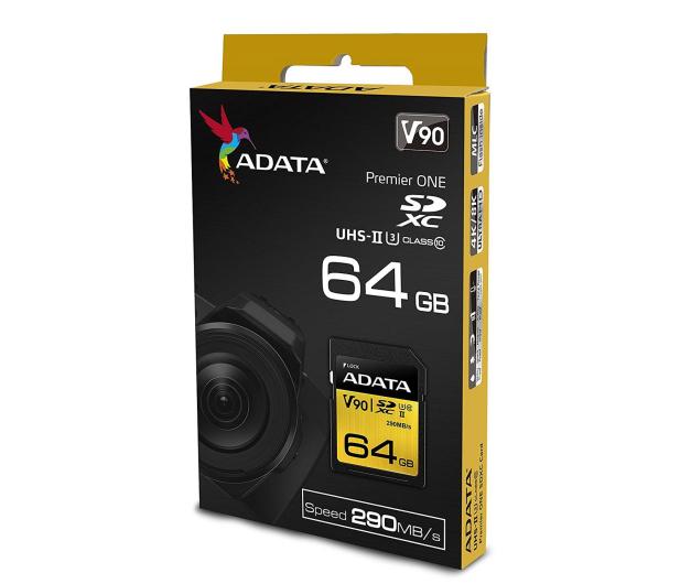 ADATA 64GB Premier ONE 290MB/s C10 UHS-II U3 - 408950 - zdjęcie 3