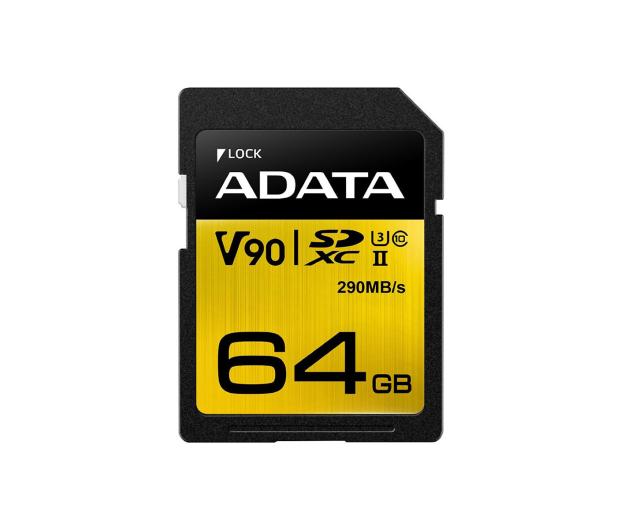 ADATA 64GB Premier ONE 290MB/s C10 UHS-II U3 - 408950 - zdjęcie