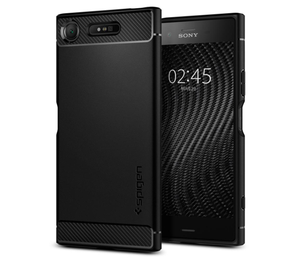 Spigen Rugged Armor do Sony XPERIA XZ1 Black - 409205 - zdjęcie